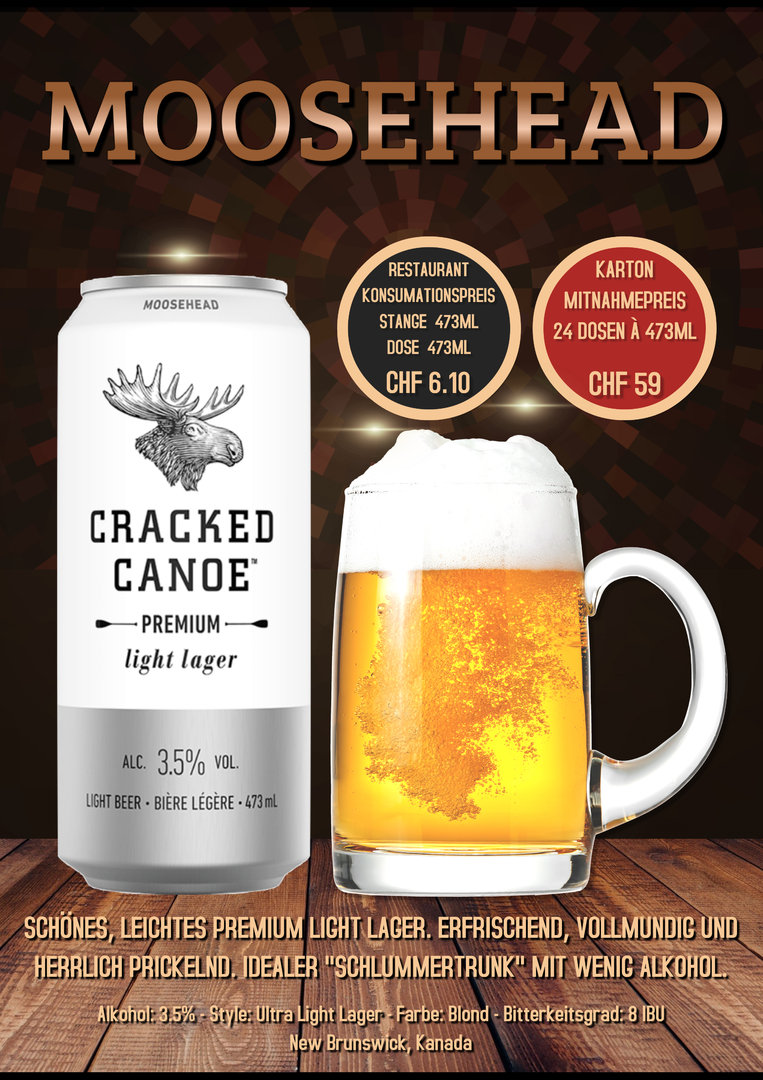 Cracked Canoe, Karton 24 Dosen à 4.73dl, 3.5%