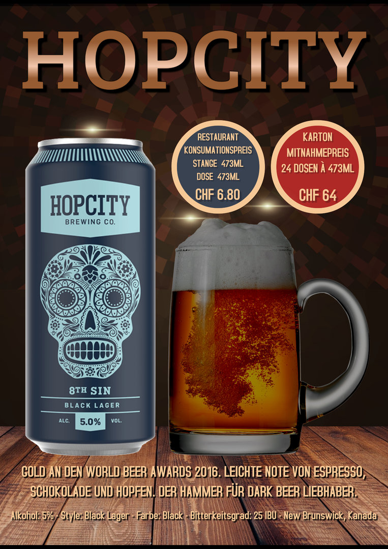 Hopcity 8th, Karton 24 Dosen à 4.73dl, 5%