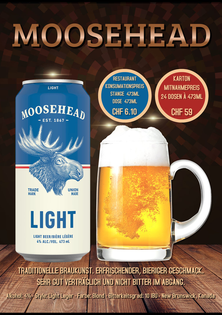 Moosehead Light (24 Dosen à 4,73dl)