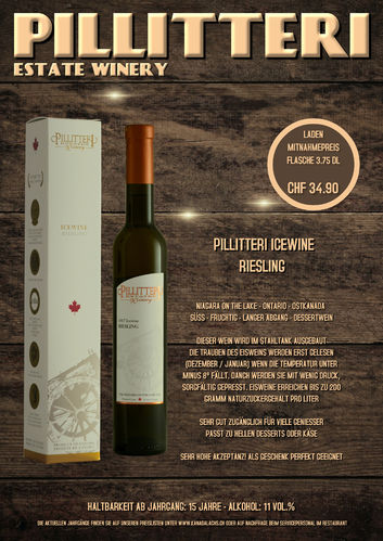 Pillitteri, Carretto Riesling, Icewine, VQA, 375ml, 2016