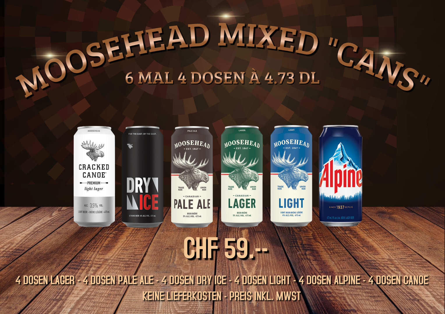 "Moosehead Mixed ""Cans"""